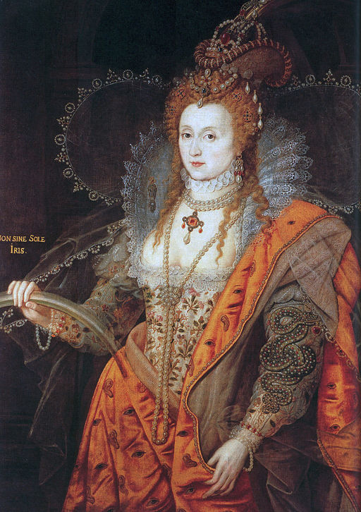 A portrait of Queen Elizabeth I showing cleavage