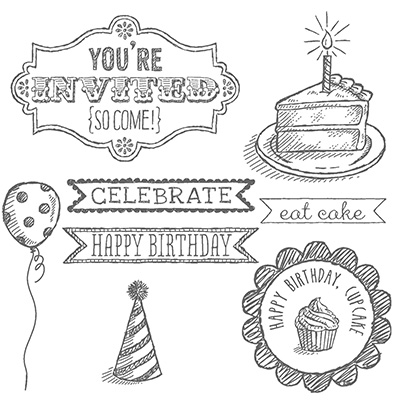 Stampin' Up! Sketched Birthday Stamp Set