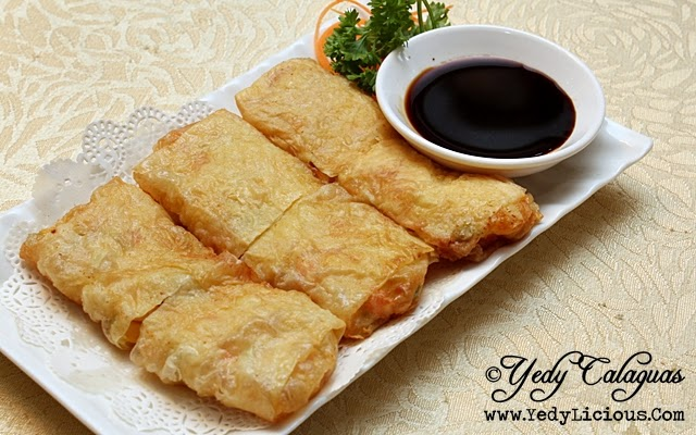 Crystal Jade Deep-fried Beancurd Skin Rolled with Shrimp