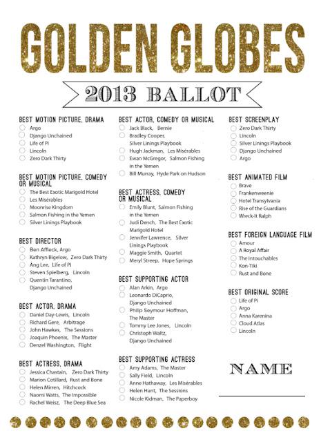 mint love social club: {golden globes free printable ballot}