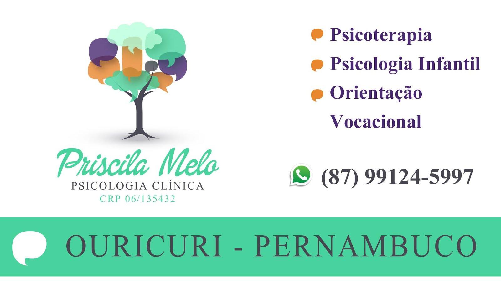 Priscila Melo: Psicologia Clínica: