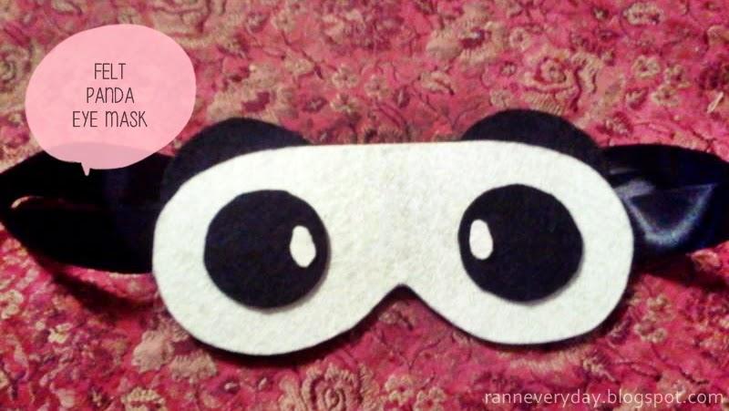 how to make a felt eye mask