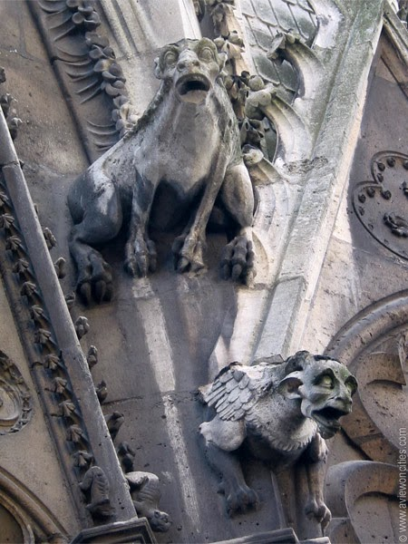 Gargoyles at the Notre-Dame Cathedral