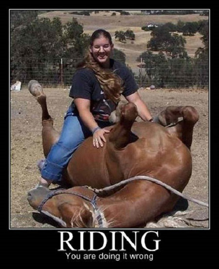 RIDING WRONG