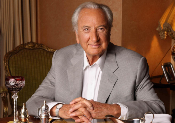 Food critic and director Michael Winner