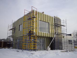 смонтирован утеплитель и несущая подконструкция