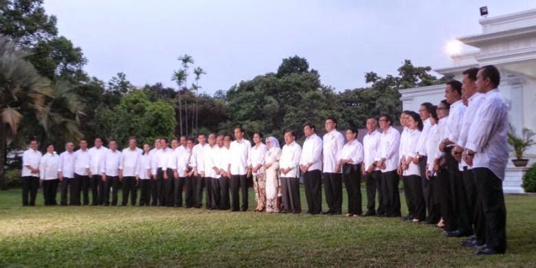 Pengumuman nama Kabinet Jokowi JK atau Kabinet Kerja 2014-2019