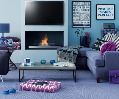 sala colores relajantes