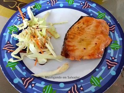 Kyuden Sushi: Salmão grelhado