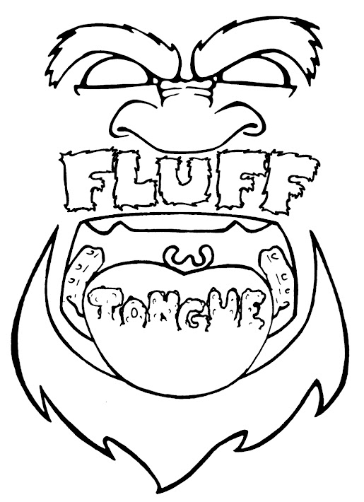 Fluff tongue t-shirt design