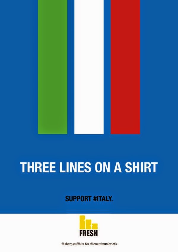 one minute brief entries support campaign for italy with freshawards