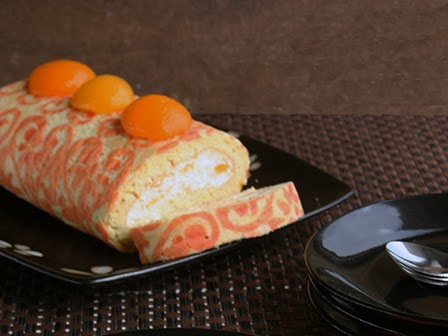 Apricot Swiss Roll - Happy Blogversary!!