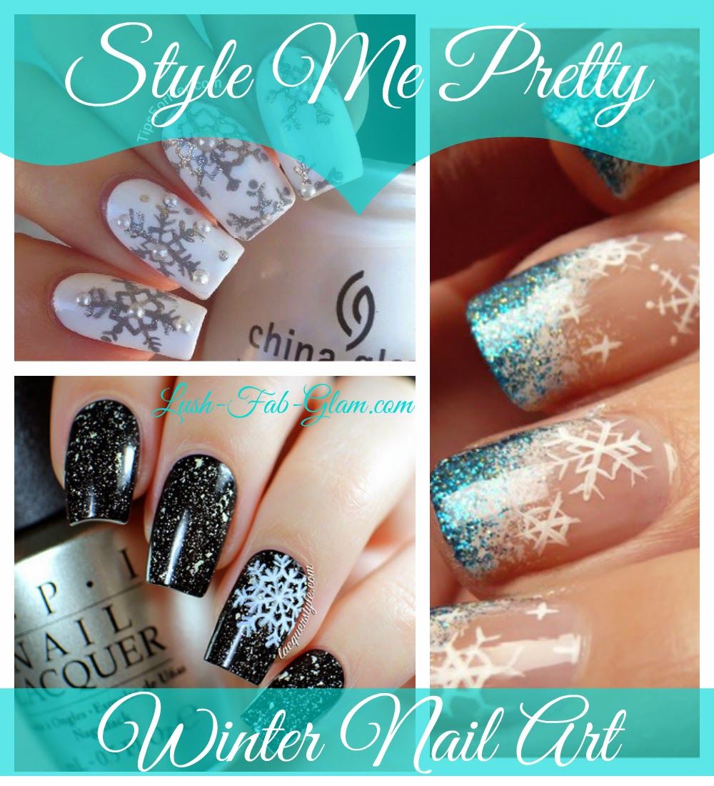 Lush fab glam blogazine style me pretty winter snowflakes nail art read on to see them all and for tips on the nail colors and nail art tools that you can use to do it yourself solutioingenieria Choice Image