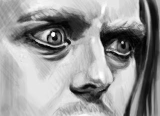 tim minchin digital sketch by andy dolphin