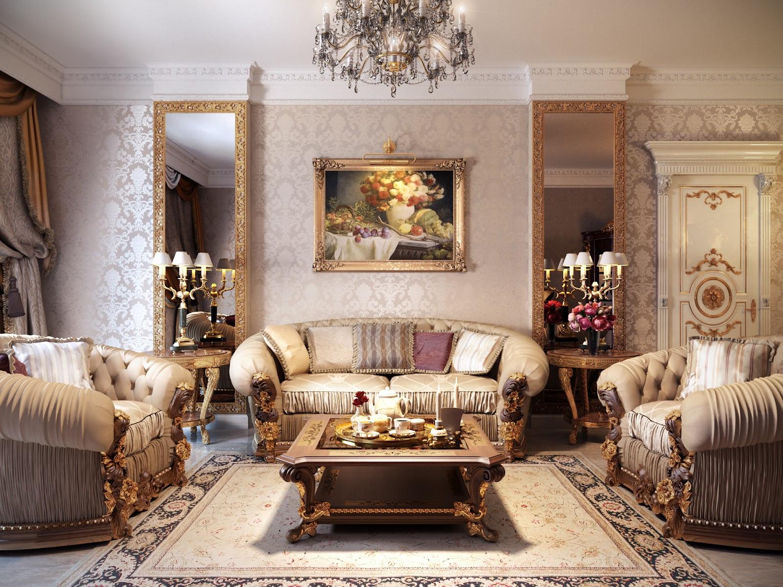 ruang+tamu+klasik+modern Desain Rumah Modern Dari Karya Brilian Arsitektur Uglyanitsa Alexander
