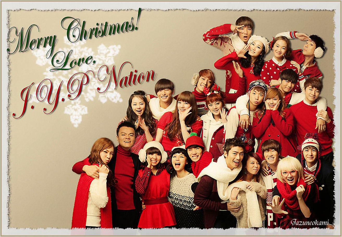 Zona Chitra: JYP Nation Christmas Pictures