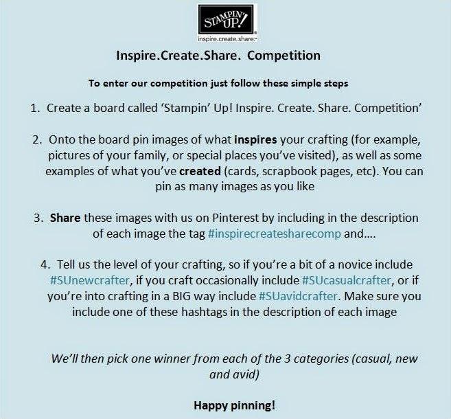 Win Stampin' Up! UK goodies on Pinterest 7-20 July 2014