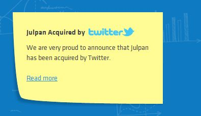 Twitter acquired Julpan