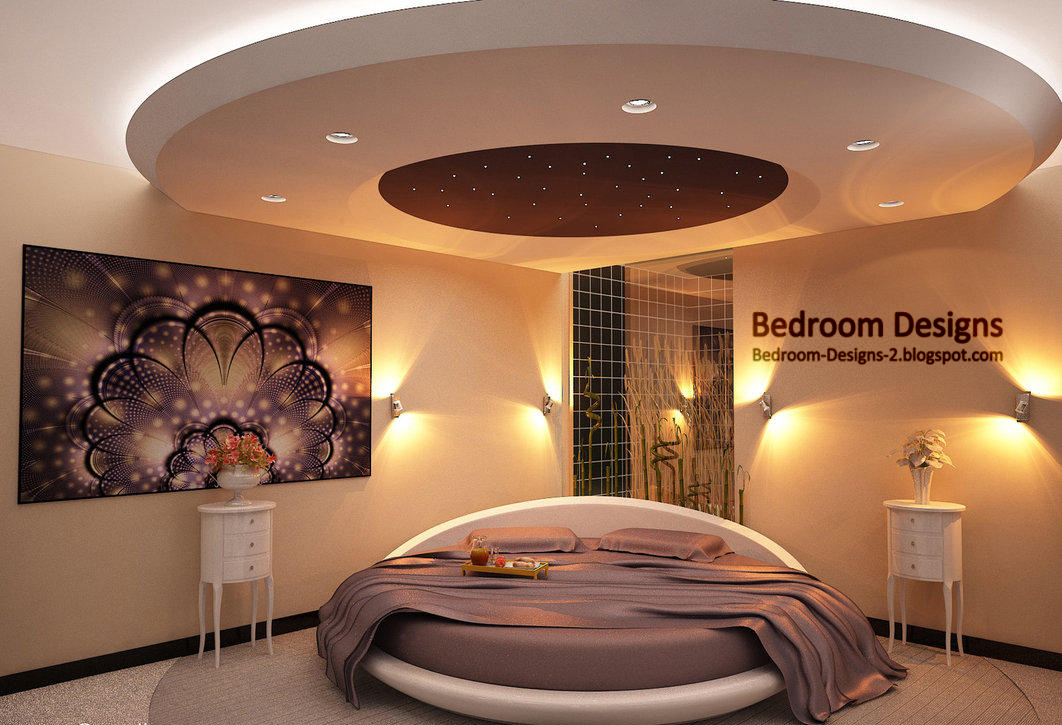 Master bedroom design ideas round bed and round ceiling for Round bed design