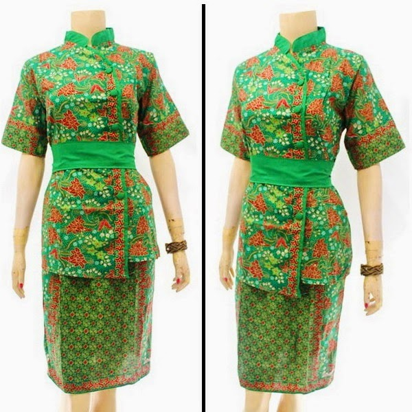 DB3811 Model Baju Dress Batik Modern Terbaru 2014