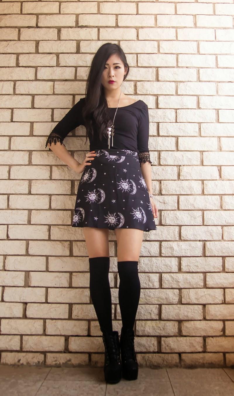 Antonia New Look  Antonia  Sun and moon skirt