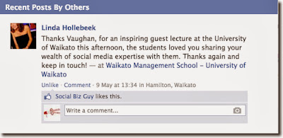 Thanks Vaughan, for an inspiring guest lecture at the University of Waikato this afternoon, the students loved you sharing your wealth of social media expertise with them. Thanks again and keep in touch! — at Waikato Management School - University of Waikato