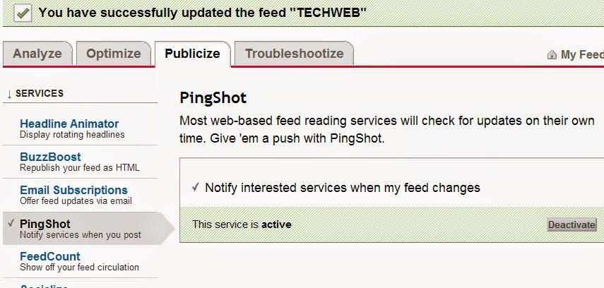 feedburner pingshot