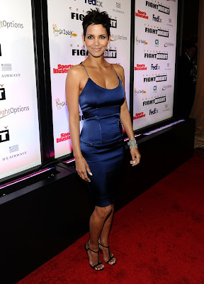 Halle Berry In A Tight Blue Dress