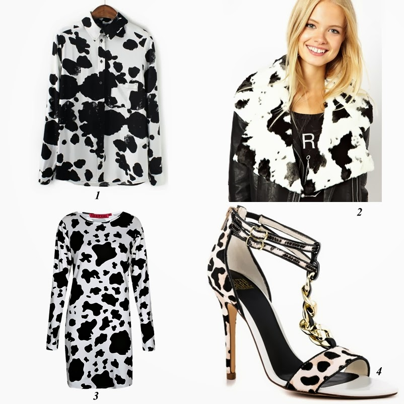 Cow prints fashion items