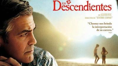 Cartel de la película Los descendientes, protagonizada por George Clooney