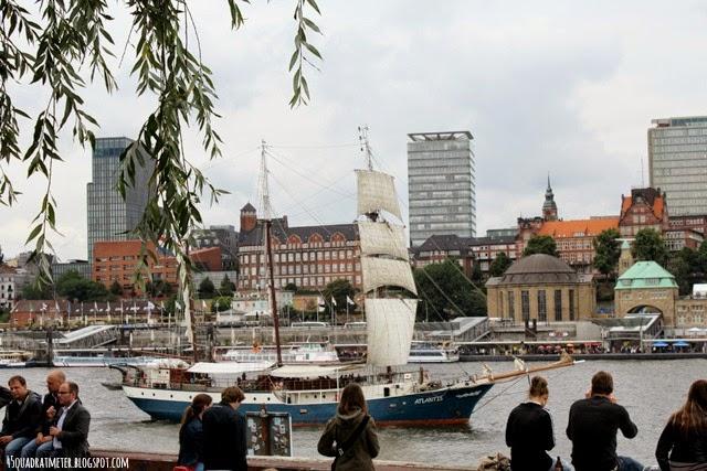 Hamburg, Elbe, Schiff, Lebensqualität, Sicht auf Hamburg