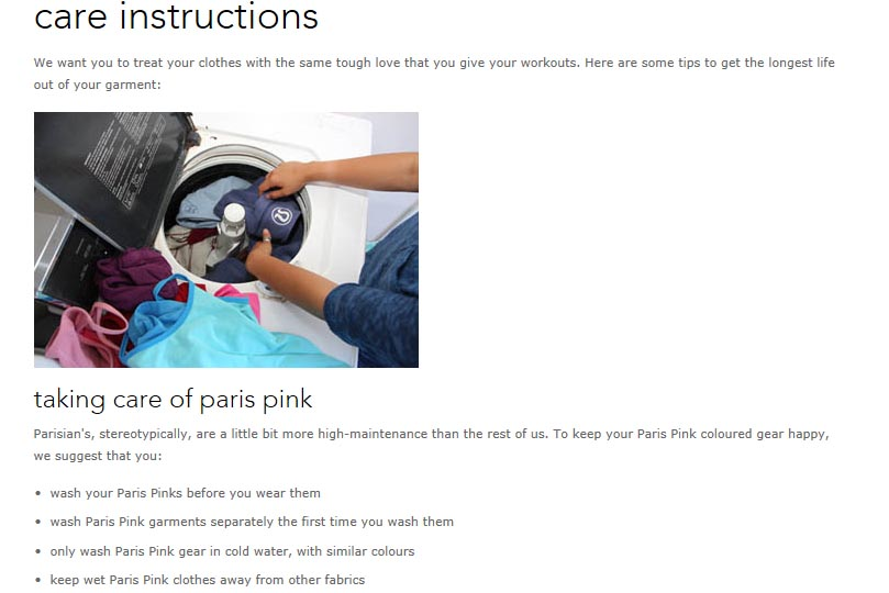 Lululemon Addict Check It Out Washing Instructions Specifically