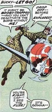 Avengers #56, Captain America, Bucky dies