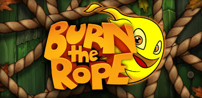 Jogo Burn the rope use o sensor de movimento ao maximo.