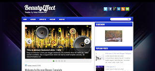 Beauty Effect Blogger Template is a clean modern template