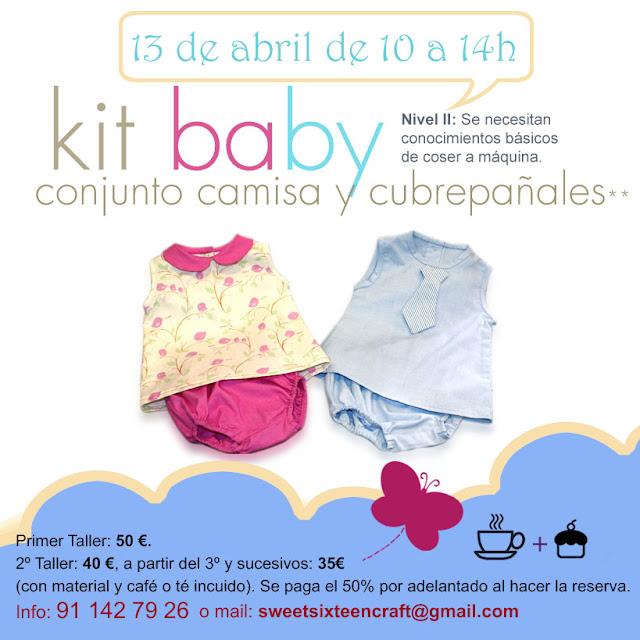 Taller monográfico Kit Baby en Sweet sixteen craft store Madrid