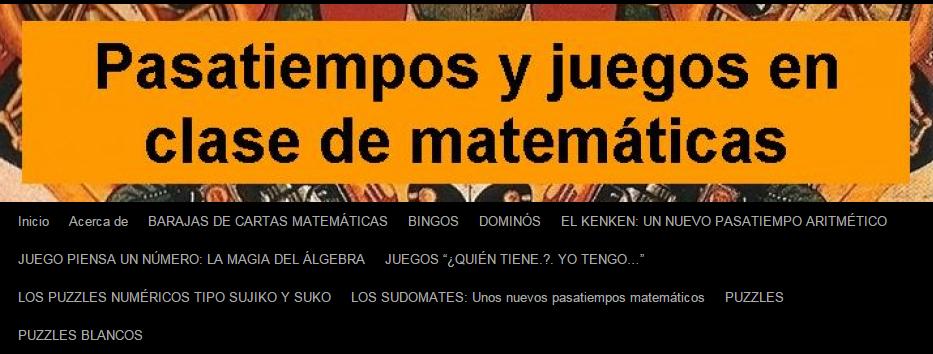 JUEGOS PARA APRENDER MATEMÁTICA