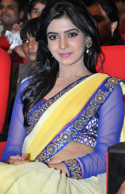Cute samantha hq images in saree