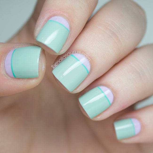 Sally Hansen Green Tea Nail Art // The Nailasaurus ... - 31 Day Challenge: Green - The Nailasaurus UK Nail Art Blog