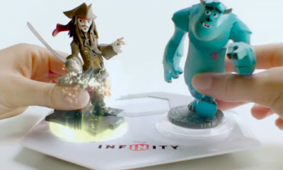 Disney Infinity Jack Sparrow Sulley base video game figures