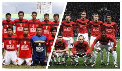 Kostum Makassar United vs Manchester United