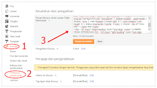 Preferensi Penelusuran,setting blogger,pengaturan blogger,setelan blogger,edit