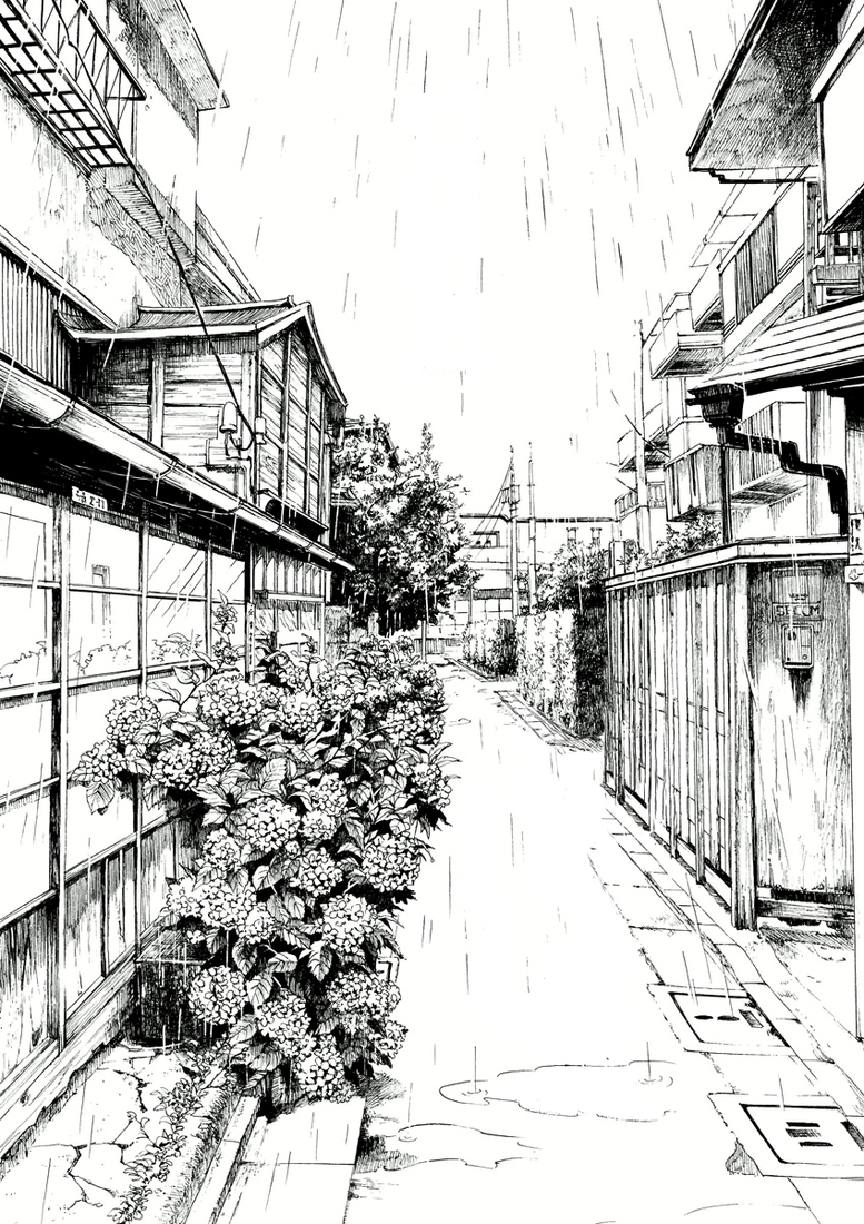 29-Kiyohiko-Azuma-Architectural-Urban-Sketches-and-Cityscape-Drawings-www-designstack-co