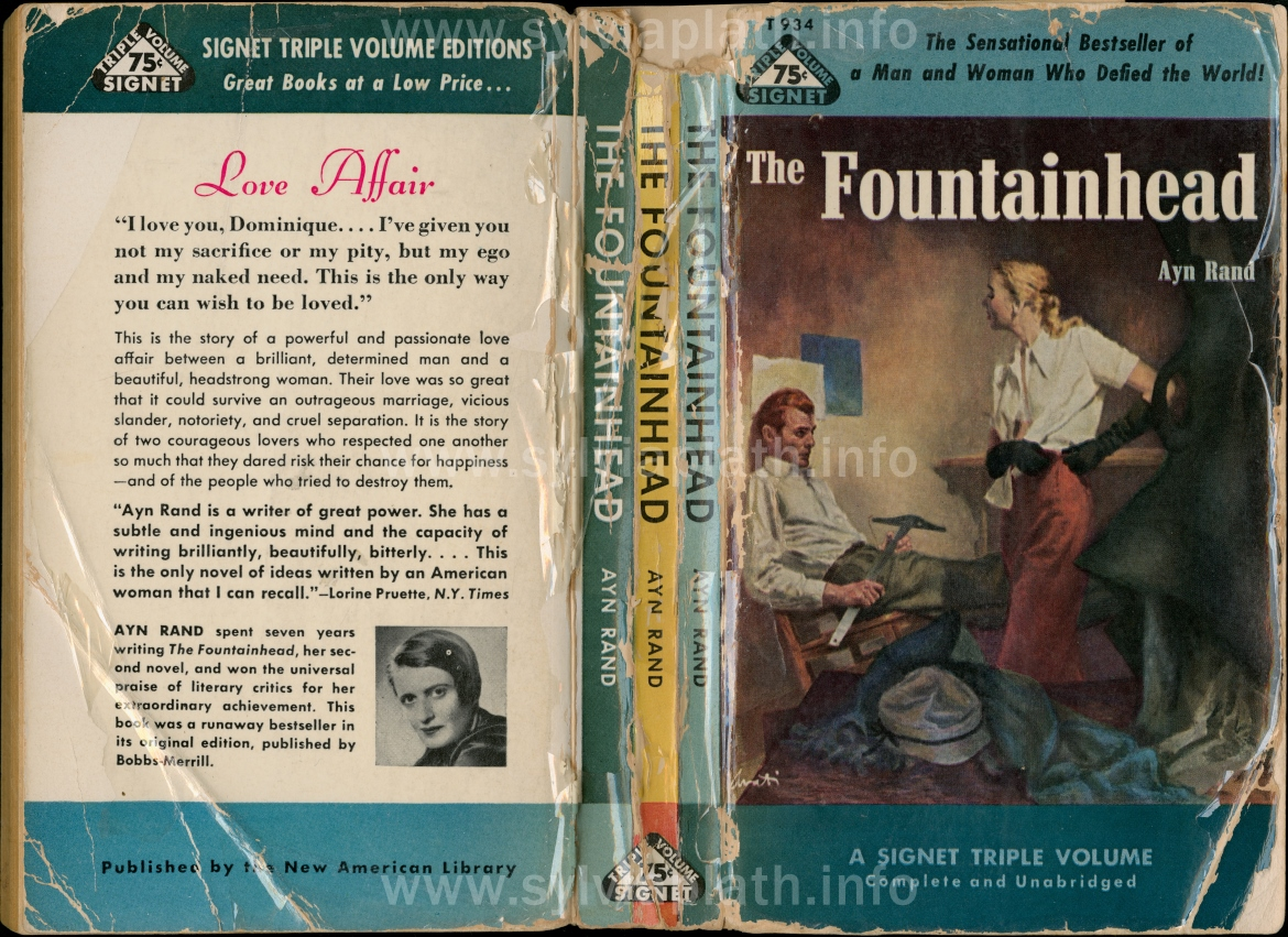 essay fountainhead In her novel, ''the fountainhead'', ayn rand explores the struggle between the individual and society this lesson will introduce characters.