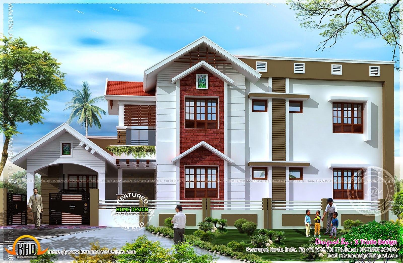 April 2014 kerala home design and floor plans for Nice home design pictures
