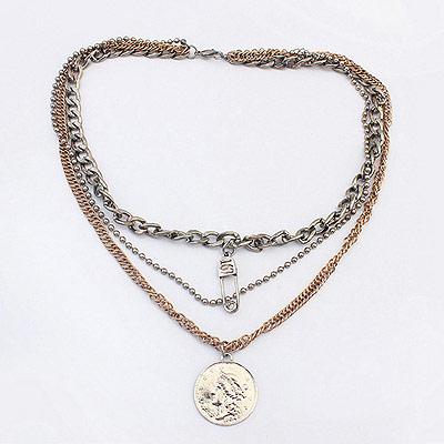 Aksesoris: Kalung Multi Chain Coin (AHG-404)