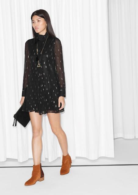 glitter black silk dress, black silk dress pattern, silver pattern silk dress,