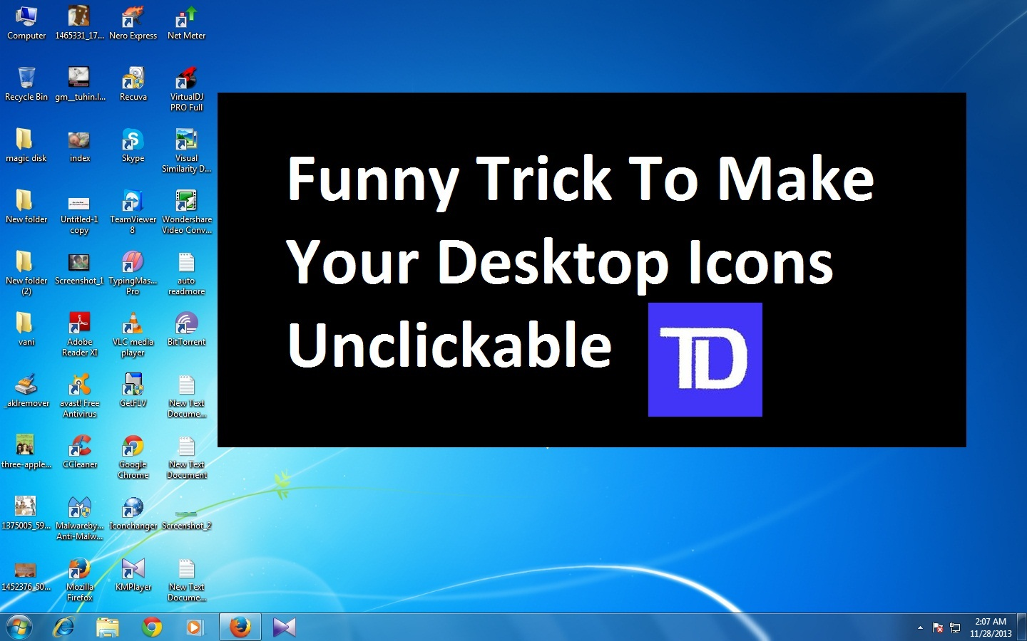 how to make your desktop icons tiny