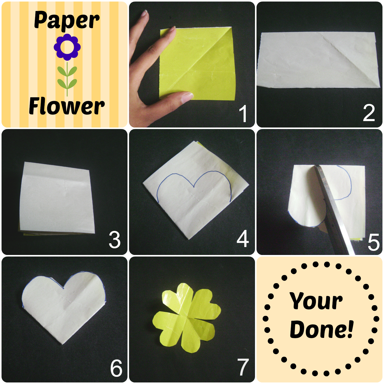 Make Easy Paper Flowers Moonshine And Sunlight Moonshine And