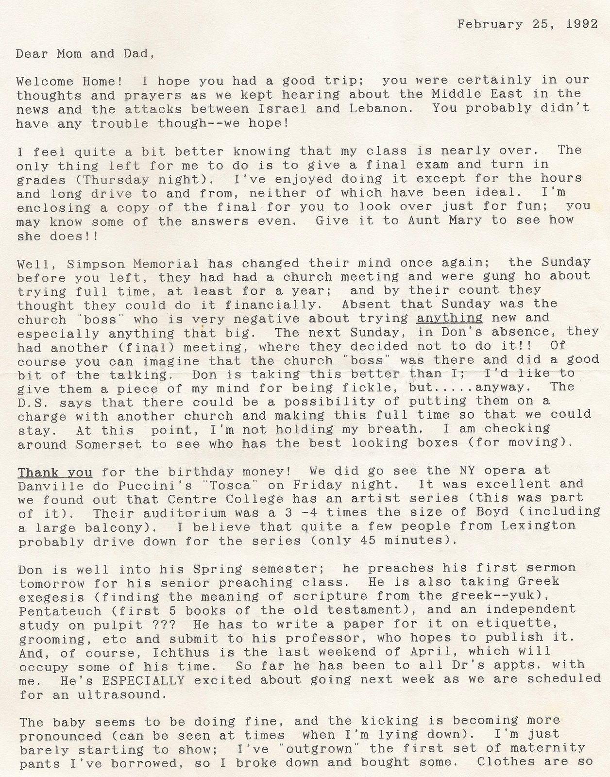 Uibles A Family Blog Mvs Letter To Momdad 25 Feb 1992